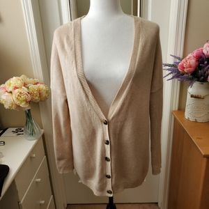 Theory Beige 100% Cashmere Cardigan - Small